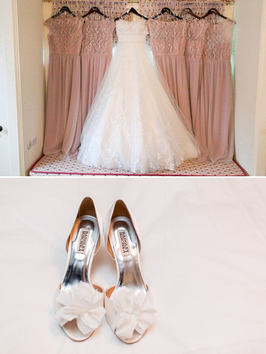 white and pink wedding ideas