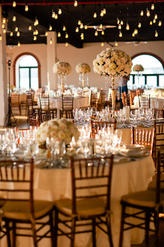 classic gold and rose reception
