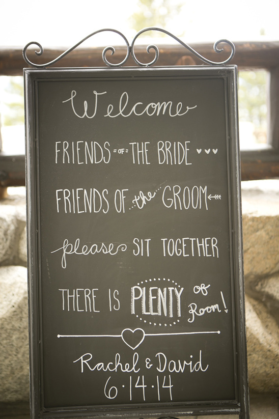 welcome chalkboard sign