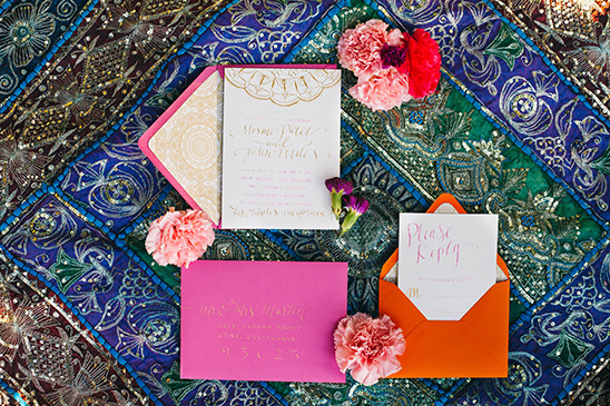 Henna Inspired wedding invites