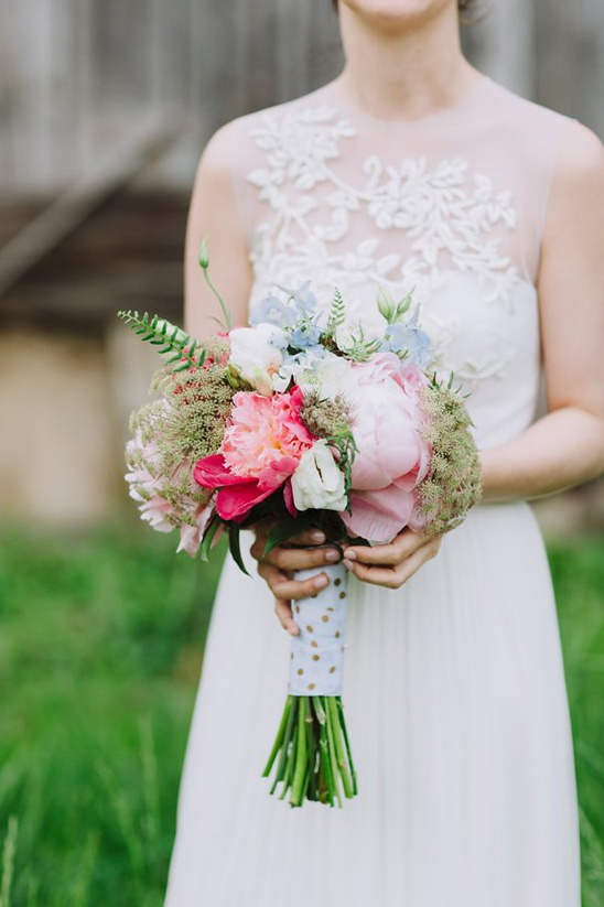 bride created bouquet