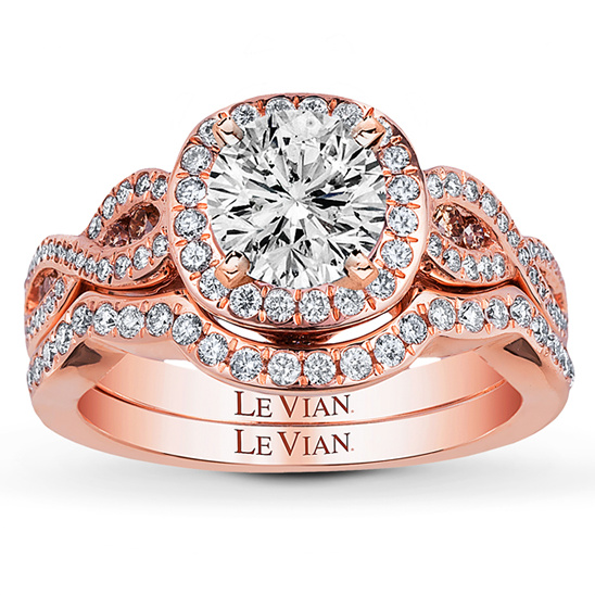 strawberry gold engagement ring