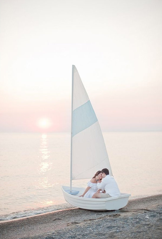 fun sailboat engagement idea