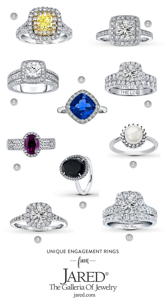 unique engagement rings from Jared
