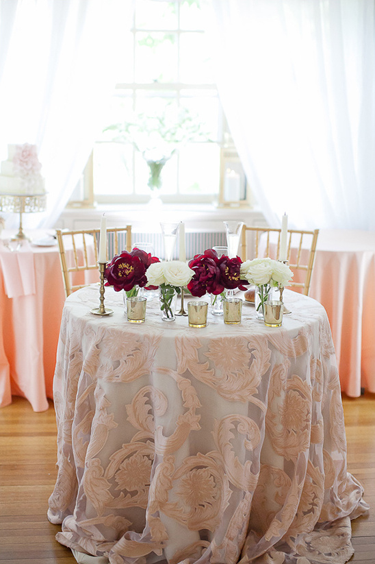 patterned sweetheart table idea