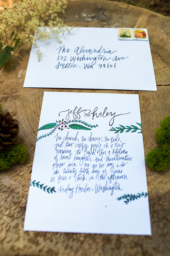 glamping wedding invite