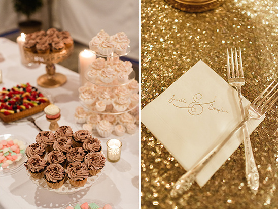 cupcake table and signature napkins