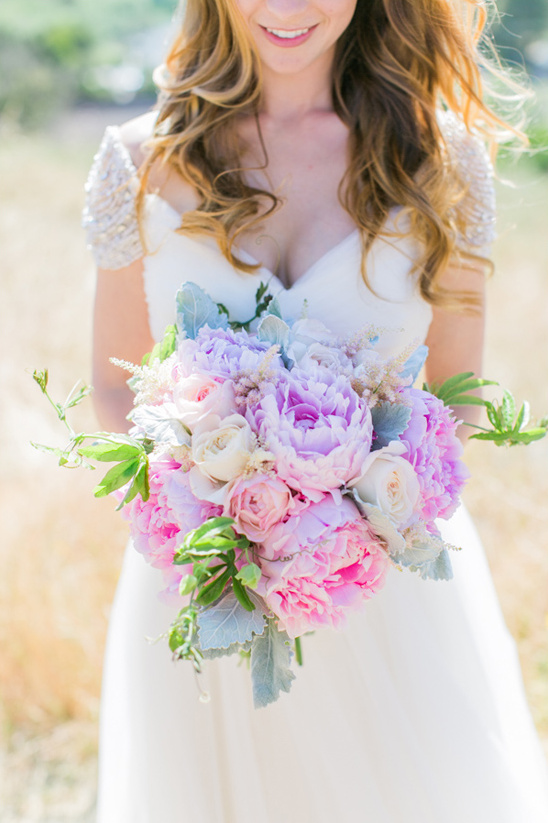 pink and purple bouquet from Poppys Petalworks