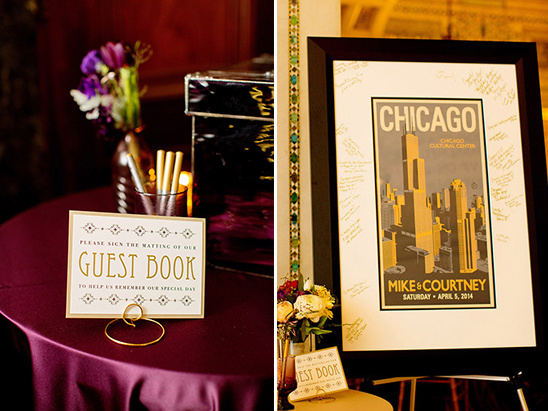 framed chicago print guestbook
