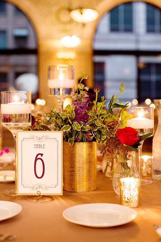 elegant art deco table numbers