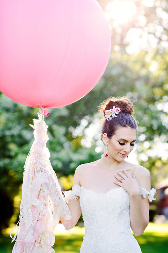 giant balloon with lace