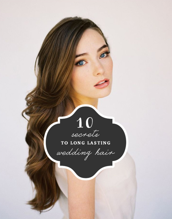 long lasting wedding hair