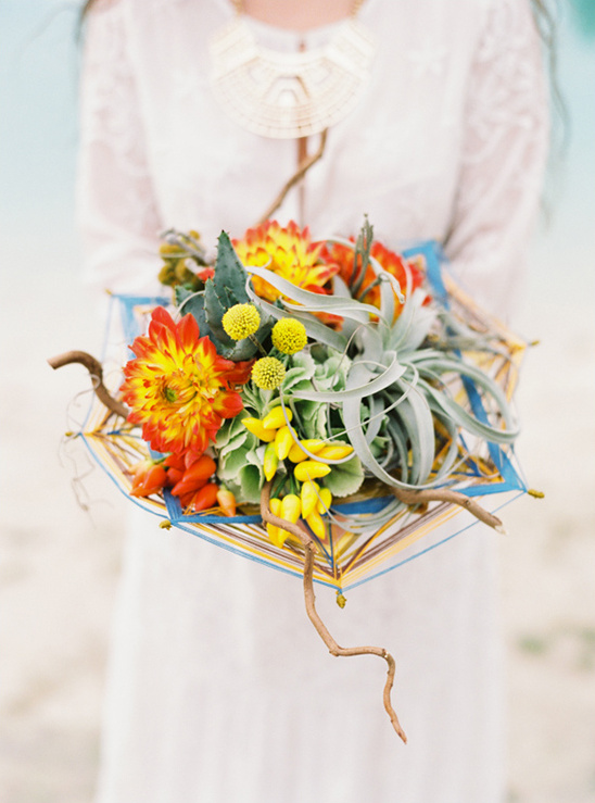 red yellow and green bouquet