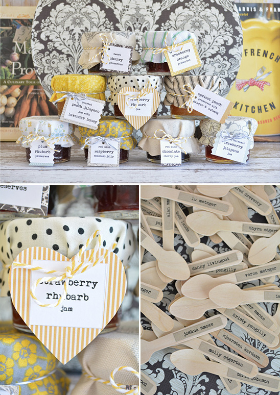 homemade jam wedding favor recipes