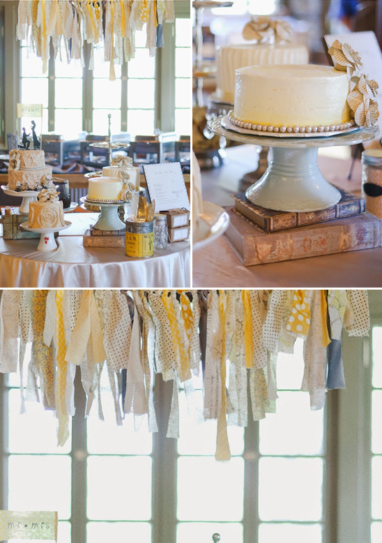 diy wedding cake table