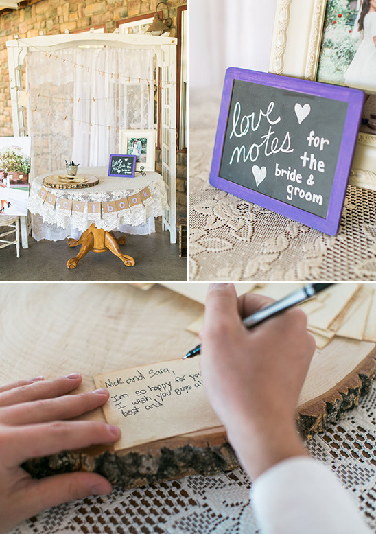 love notes guestbook station