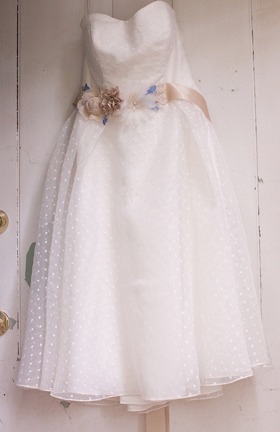 Swiss dot wedding dress