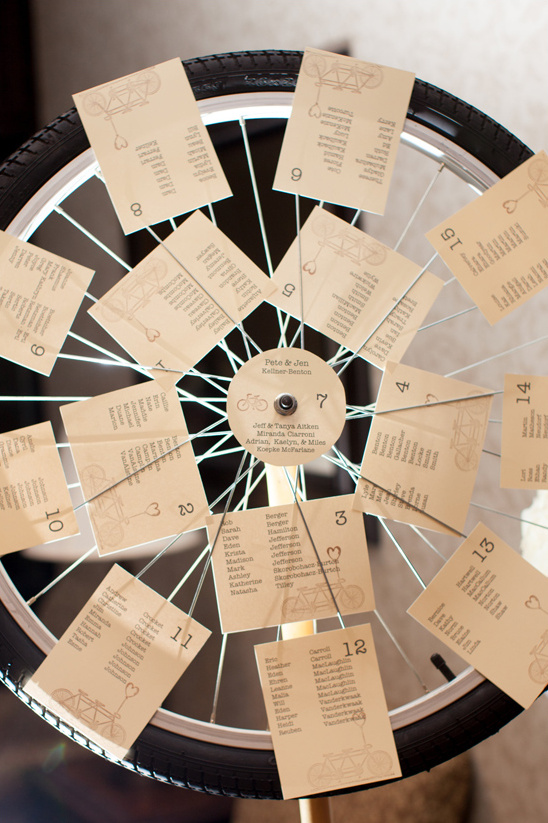 bicycle wheel seating chart