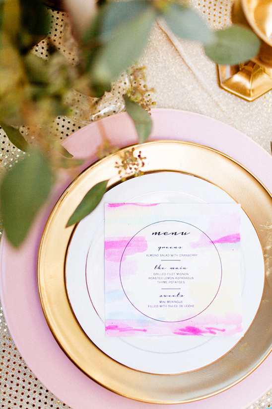 watercolor menu idea