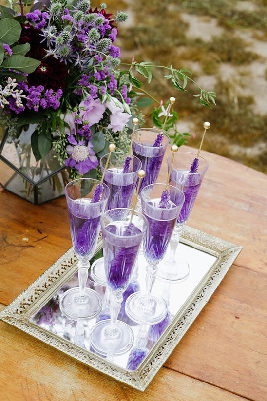 rock candy wedding drinks