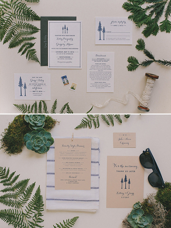 tree inspired wedding invite