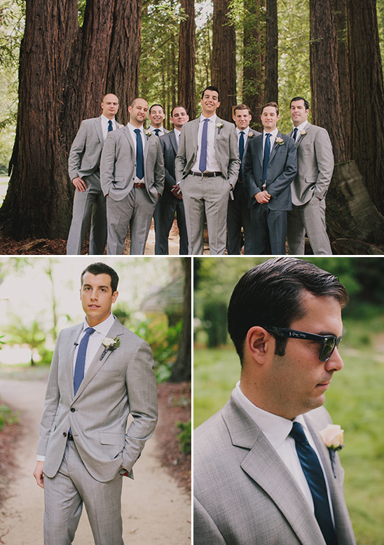 gray and blue groomsmen looks