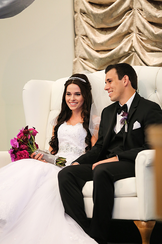 couple on couch at wedding