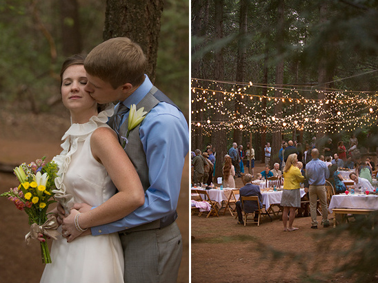 romatic woodland wedding