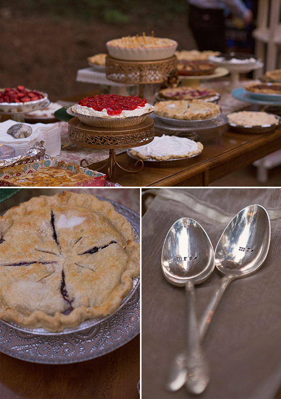 pie table and mr and mrs spoons