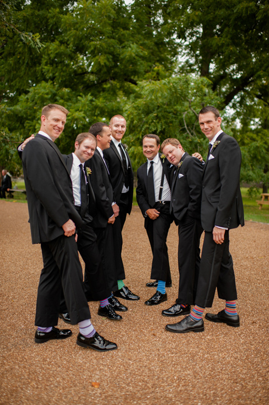classic groomsmen with multi colored socks
