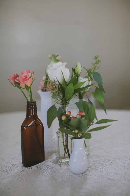 assorted bud vace centerpieces