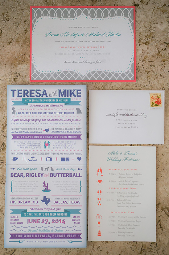 illustrated wedding stationery ideas