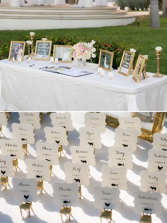 mini golden chair escort cards