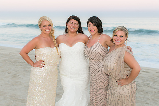 bedazzled bridesmaid dresses
