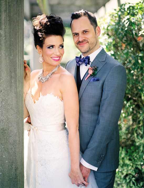 glamorous bride and groom style