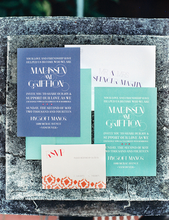 modern wedding invites by Uniquity Design