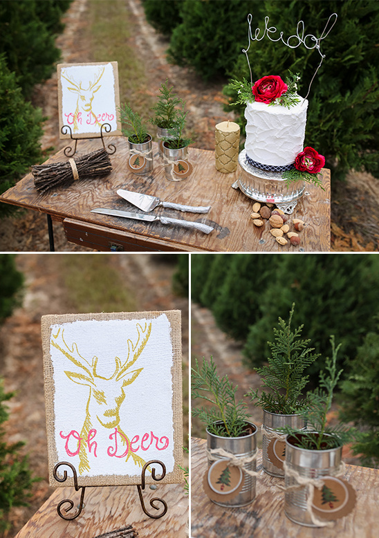 winter cake table ideas