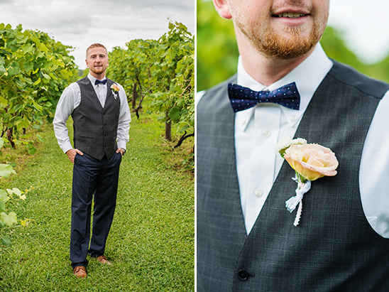 navy and grey groomsmen attire