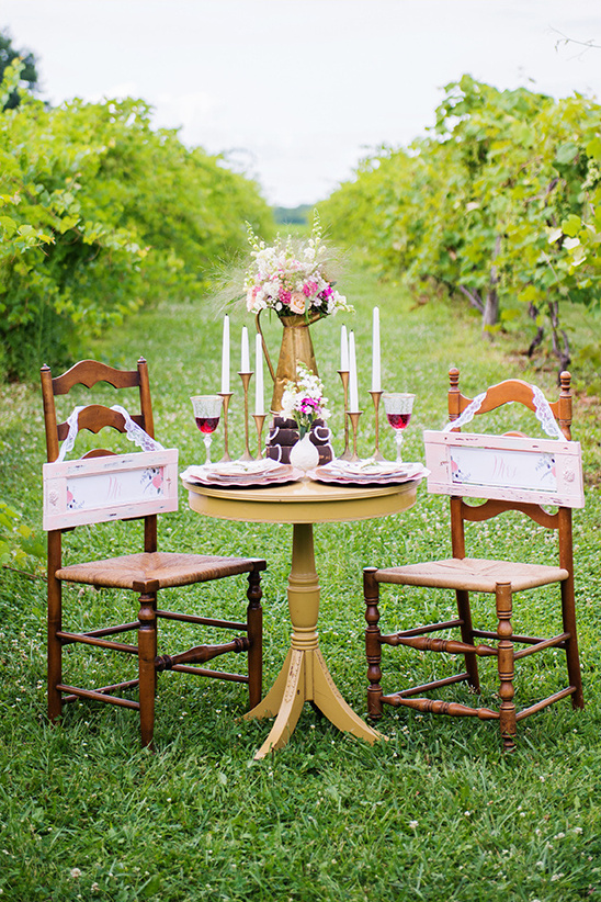 vineyard sweetheart table layout idea