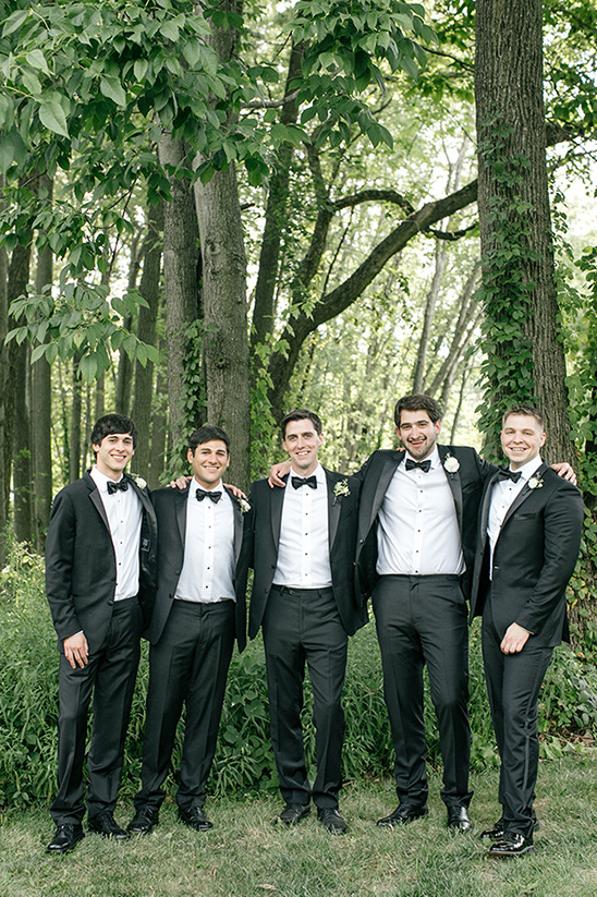 Groom and His Men in Tuxedos