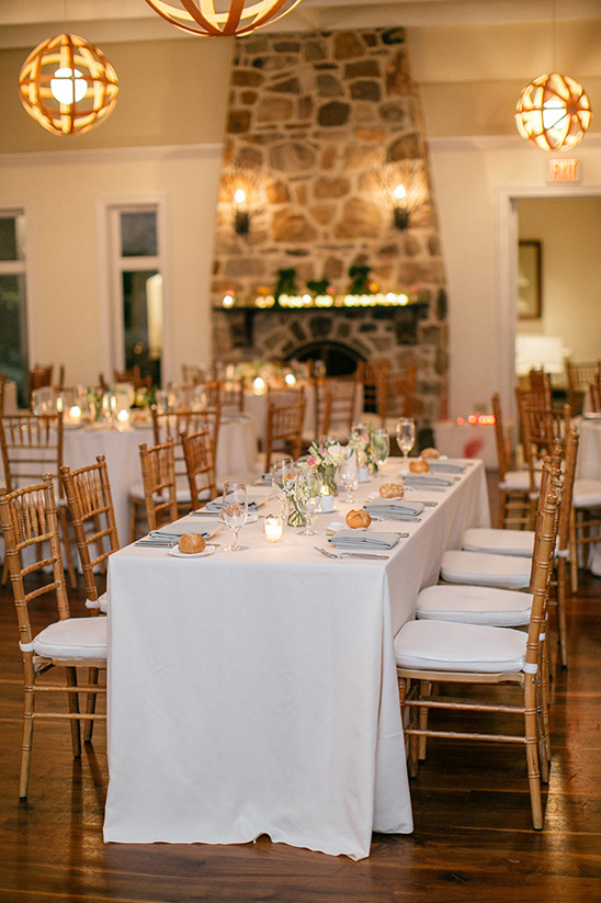rustic glam dinner reception