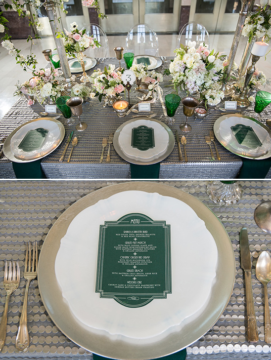 green and silver wedding ideas