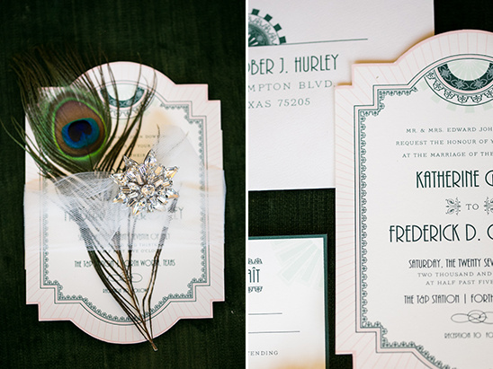 roaring 20's wedding invite