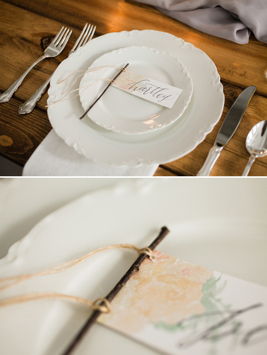 twig place cards