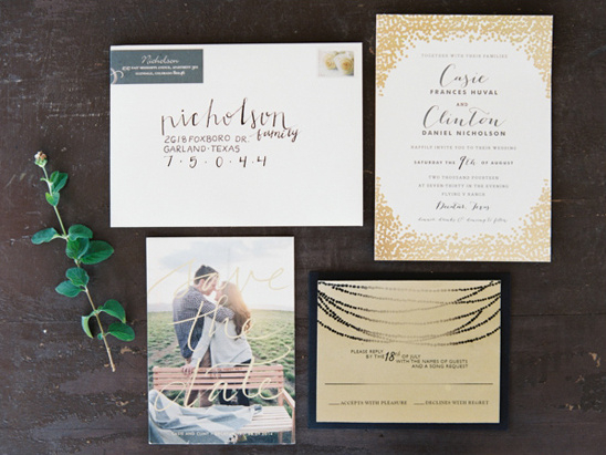 eclectic wedding stationery