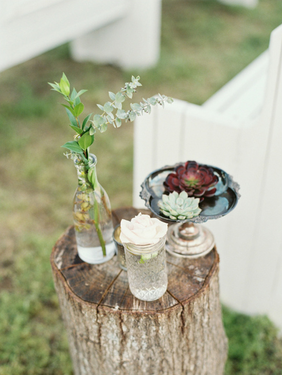 flower bud aisle decor