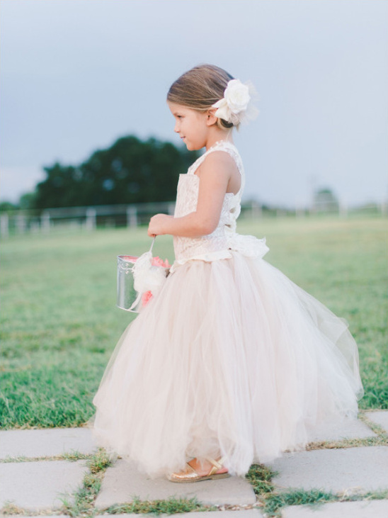 pink flower girl ideas