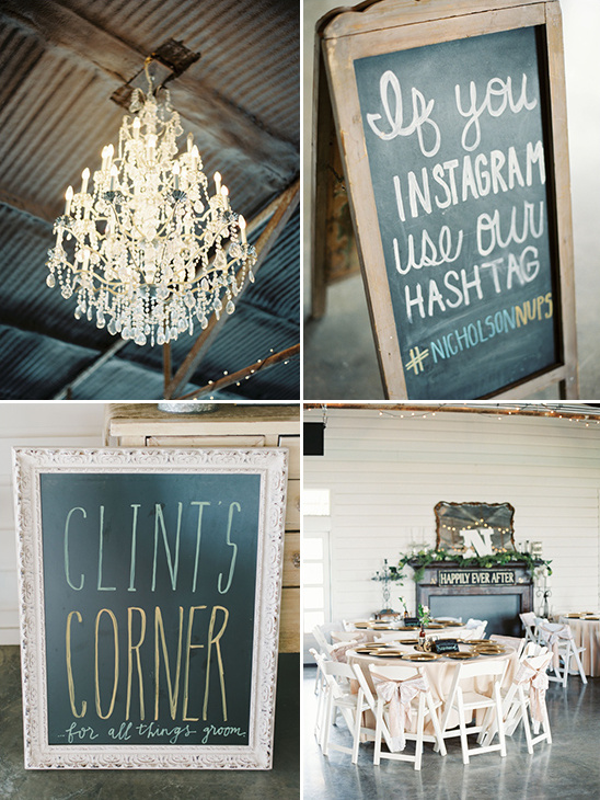 cute chalkboard signs and shabby chic decor