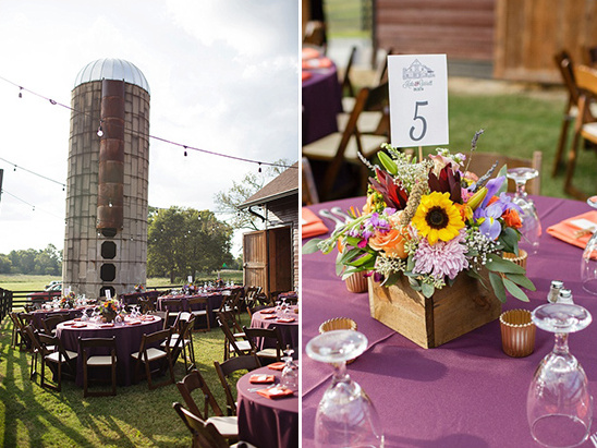 outdoor barn reception