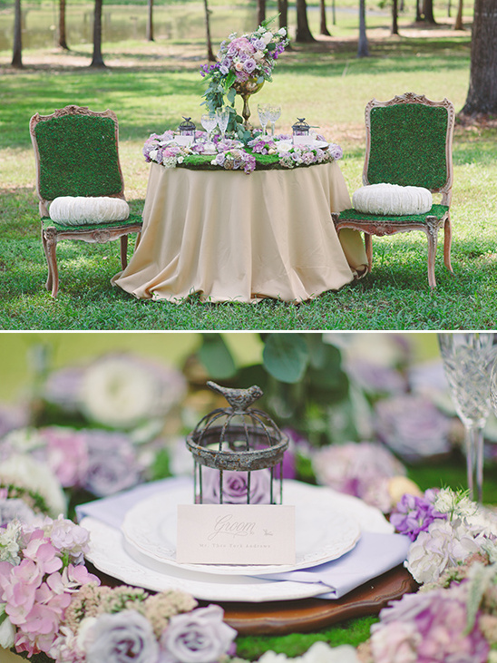 green and purple wedding ideas